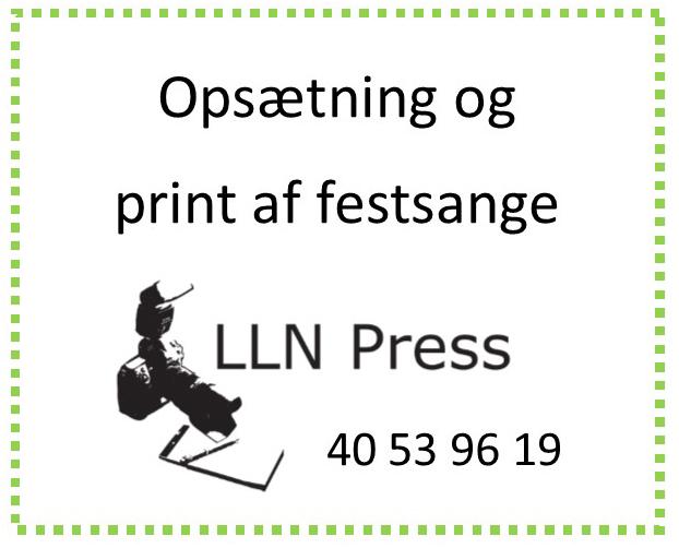 LLN Press - Opsætning og print af festsange