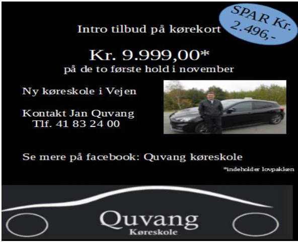 Quvang Køreskole - introtilbud