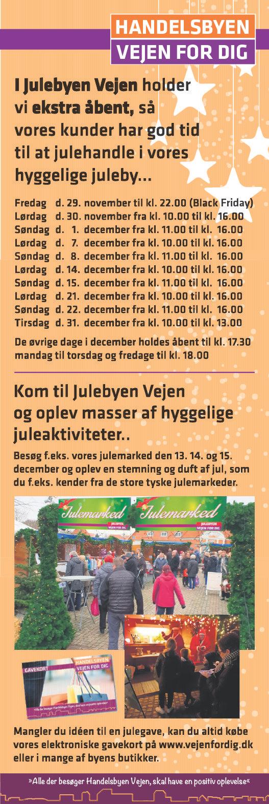 Åbningstider Vejen - julen 2019 - sideannonce