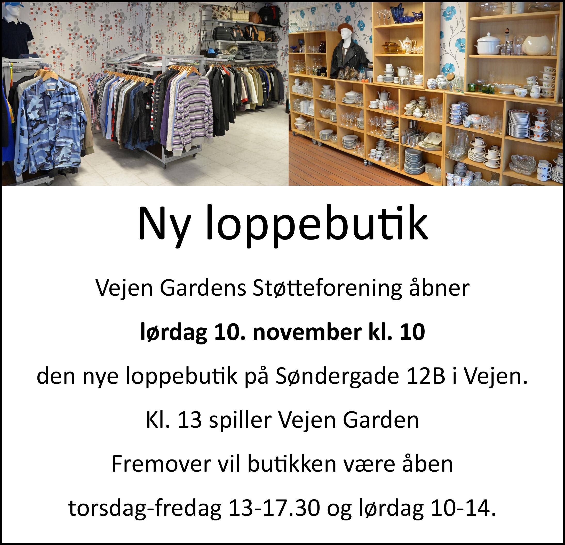 Vejen Garden - annonce - loppebutik